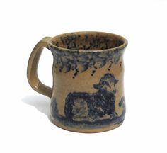 Vintage Stoneware Mug Sheep Signed Becky Mummert E. Berlin PA