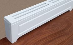 Jays Custom Covers - Quality heater covers for baseboard heaters, cast iron radiators and PTAC units! Farmhouse Entryway Table, Farmhouse Trim, Farmhouse Style Kitchen, Farmhouse Style Decorating, Baseboard Radiator, Baseboard Heater Covers, Baseboards, Hydronic Baseboard Heaters, Baseboard Heating