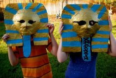 Dollar Store Crafts » Blog Archive » Make a Pharaoh Mask + 4 More Kids Crafts for Halloween