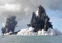 Under sea volcano