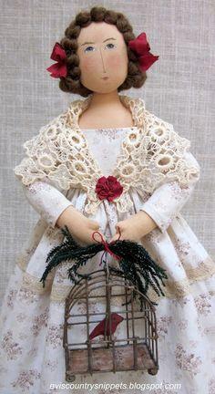 Замечательные текстильные куклы от Evi