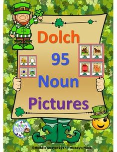 Dolch Nouns Pictures For March Includes 95 Word Cards And Noun