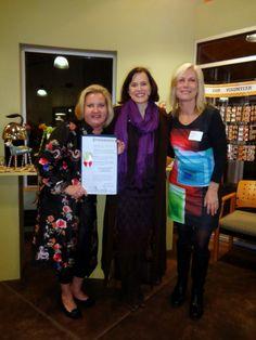 Jennifer Van Wyk, Mayor Betsy Hodges and Mary Hamel