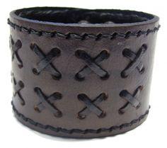 Läderarmband, criss cross