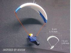 Mini Glider Paragliding White & Blue Fly Inspired By Niviuk _ 4 Blue Fly, Hang Gliding, Paragliding, Gliders, Inspired, Mini, Inspiration, Ebay, Biblical Inspiration