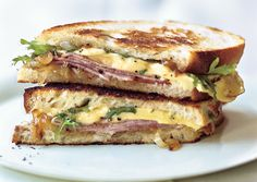 Grilled ham and gouda