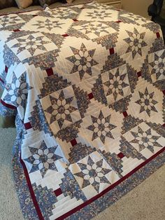 Several months ago I wrote about a friend who wanted me to re-create a quilt that was made for her in the 1980's.  She had used it on her...