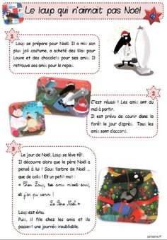 Le loup qui n'aimait pas Noël CP - Le petit cartable de Sanleane French Education, Core French, Theme Noel, Preschool Printables, Reading Lessons, Help Teaching, Teaching French, Learn French, Winter Christmas