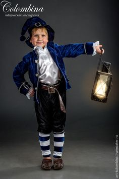 Купить костюм гнома - тёмно-синий, гном, гномик, костюм гнома, костюм гномика, атлас