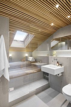 Modern Bathroom Have a nice week everyone! Today we bring you the topic: a modern bathroom. Do you know how to achieve the perfect bathroom decor? Modern Bathroom Design, Bathroom Interior Design, Modern House Design, Bathroom Designs, Home Design, Interior Ideas, House Ceiling Design, Small Rooms, Small Bathroom