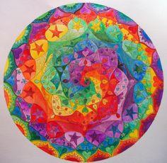 Colorful spiral, mandala.