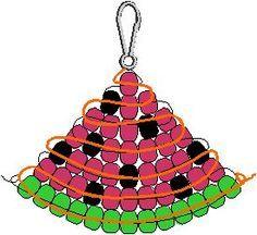 Free watermelon pony bead pattern – swap idea   best stuff