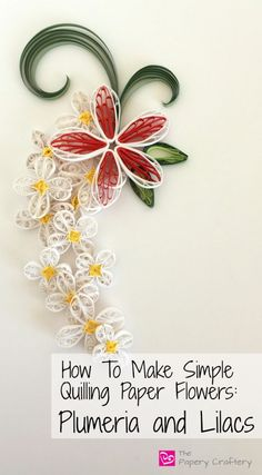 Quilling Paper Flowers–Plumeria-and-Lilacs-featured