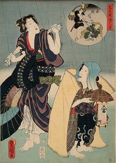 Utagawa Kunisada (Japanese, 1786-1864), Act V: The Yamazaki Highway, from the series Pictorial Siblings to The Treasury of Loyal Retainers, 1859, ôban nishiki-e (color woodblock print) with embossing