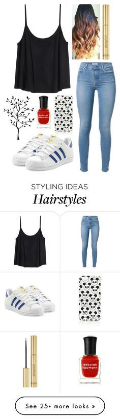 """""""605."""" by itsmy123 on Polyvore featuring H&M, Topshop, adidas Originals, Deborah Lippmann and Yves Saint Laurent"""