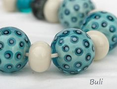 Handmade Lampwork Glass Beads Sets by BuliGlassBeads on Etsy, $35.00