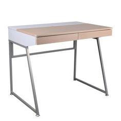 Pracovní stůl B130, bílý | Bonami