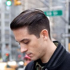 Cool G-Eazy Hairstyles - Taper Fade with Greaser Slick Back