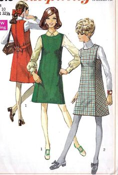 1960s Misses Jumper Vintage Sewing Pattern Mad by MissBettysAttic, $8.00