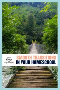 Are you facing transitions in your homeschool this year? I am. I learned how to make them smoother. #homeschool