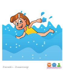 Zwemles  Onderdeel van de serie Zonneroosje.  Peuterplanbord, specialist in planborden en pictogrammen voor kinderen