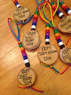 What to do with the beads Cub Scouts earn at day camp.  #cubscouts #daycamp.  #beads