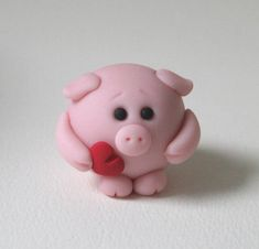 *POLYMER CLAY ~ Valentine Piggy by fliepsiebieps1, via Flickr