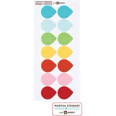 Martha Stewart Color Coding Labels by Avery