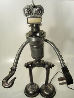 Robot Lamp  Found Object Assemblage by FaradayKustomRobotic, $200.00