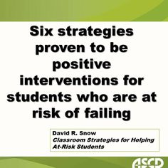 Learn classroom strategies for helping at-risk students.