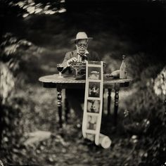 """Alex Timmermans Collodion Ambrotype wet plate Photography: """"The Image Maker...."""""""