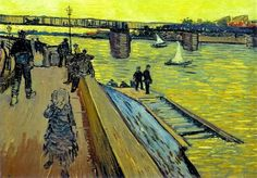The Bridge at Trinquetaille, 1888 oil on canvas