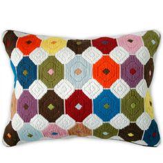 Jonathan Adler Multi Bargello Chamomile Pillow