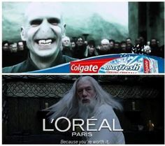Voldemort Colgate Dumbledore L'OREAL Paris