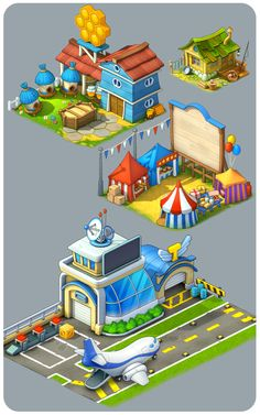 Some more characters and objects for Township Freemium on Behance | game art inspiration | digital media arts college | www.dmac.edu | 561.391.1148