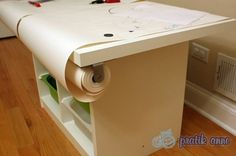 IKEA Trofast play table 2 Good idea for easy cleanup :)