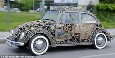 Volkswagen Beetle constructed with wrought-iron by Croatian company MG Vrbanus that usually makes iron gates and fencing.