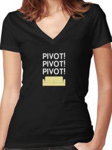Friends T-Shirt: Ross Geller PIVOT PIVOT PIVOT! Women's Fitted V-Neck T-Shirt