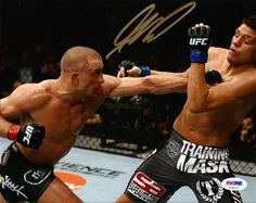 This is an 8x10 photo that has been hand signed by Georges St. Pierre. It comes with the tamper-proof PSA/DNA sticker and matching certificate for authentication.