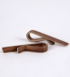 Walnut Wood Tie Bar   Men's Accessories   McAdams Co   Scoutmob Shoppe   Product Detail