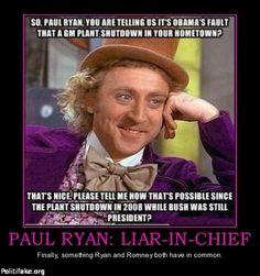 PAUL RYAN:  LIAR-IN-CHIEF.
