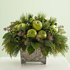Apples & Christmas greens