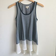 Cute Maison Jules tank top New never worn!! In perfect condition! Maison Jules Tops Tank Tops