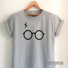 Harry Potter Shirts Harry Potter Merchandise Harry Glasses And Lightening Scar T Shirts Clothes Apparel Top Tee for Women Girls Men #harrypottershirts
