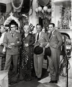 Raol Walsh, Mae West, Walter Wanger, and George Raft