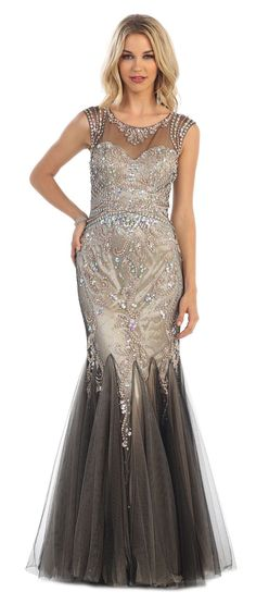 Mermaid Homecoming Long Formal Prom Ball Gown Dress