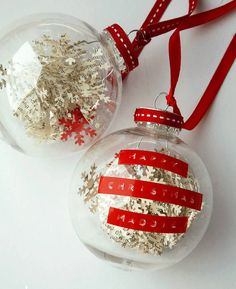 personalised snowflake confetti bauble by the letteroom | notonthehighstreet.com