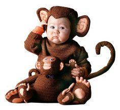 Niedliches Baby-Kostüm: Affe