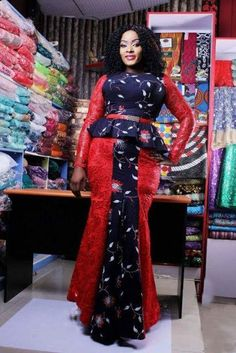 Ankara fabric can never go into extinction. Nigerians keep embracing new and beautiful Ankara styles and designs. The amazing part is that Ankara fabric can be cut into just… African Fashion Designers, Latest African Fashion Dresses, Ankara Fashion, Latest Fashion, Trendy Ankara Styles, Ankara Gown Styles, African Attire, African Dress, African Wear