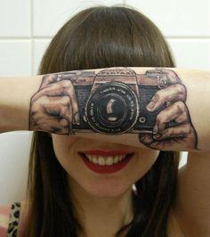 Pentax camera tattoo :)